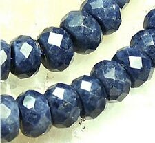 4x7mm Natural Sapphire Roundlle Beads 30pcs