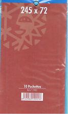 1 Blister 10 Pochettes fond noir double soudure 72x245