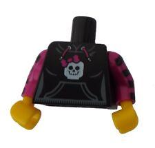 Lego Torso Oberkörper schwarz Totenkopf gelbe Hände gestreifte Arme 973pb1055c01