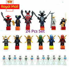 24 pcs Super Hero Ninjago Mini Figures Minifigs Kai Cole Jay Sensei fit Lego
