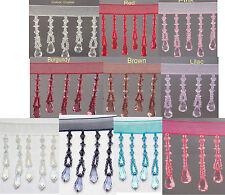 Organza Teardrop  bead trim fringe 1/2Mtr (10 Colours) #2