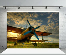 9x6Ft Outdoor Vintage Airplane Photography Background Backdrop Photo Studio
