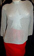 2 teilig Damen Rock rot Gr.38/40 M/L Pulli Shirt Glitzer  Bekleidungspaket Nr.K9