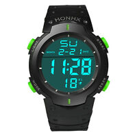 Fashion Waterproof Men's LCD Digital Stopwatch Date Alarm Boys Sport Wrist Watch