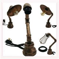 BedSide Table Lamps Desk Lights Retro Bed Light Rustic Scone Industrial UK