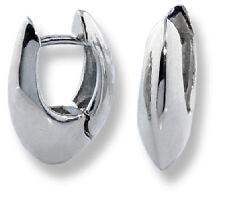 U-Shaped Tiny Hinged Huggie Earrings 10k White Gold