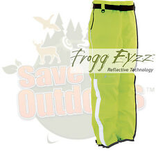 XL Frogg Toggs Toadskin Toadskinz Reflective Motorcycle Rain Pants Safety Green