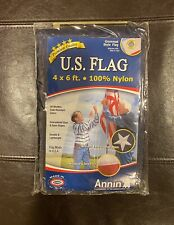 New listing New U.S. Flag 4x6 Ft Nylon with Embroidered Stars Sewn Stripes Annin Flagmakers