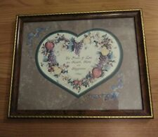 "Vintage Home Interior Homeco ""Fruits Of Love"" Framed Print Picture"