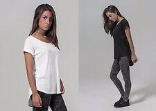 T-Shirt hinten lang geschnitten Baumwolle Ladies Long Slub Tee XS bis 5XL