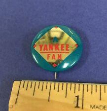 1964 Crane Potato Chips New York Yankees Vintage Pin/Pinback Button