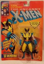 X-Men Wolverine 2nd Edition Spring Out Claws ToyBiz Series 2 Tiger Stripe (MOC)