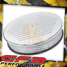 "Chevy Ford Mopar 14"" Round Chrome Aluminum Air Cleaner - Ball Milled"