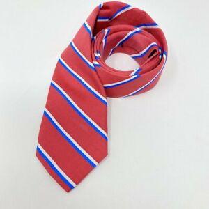 NEW Vineyard Vines Collegiate Stripe Youth Boys Silk Tie Red White Blue $50