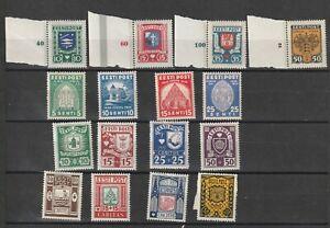 Estonia  Esttland 1936 Mi # 09/112+120/123+127/134 vf MINT