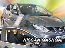 Wind Deflectors NISSAN QASHQAI II J11 5-doors 2014-onwards 2-pc HEKO Tinted