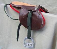 SELLE  de course mongole, cuir et feutre, Mongolie, cheval, jockey, horse saddle