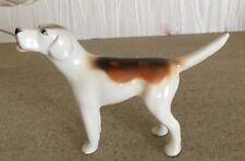 Beswick Perro Foxhound Modelo no. 941 1st versión marrón y blanco brillante Perfecto