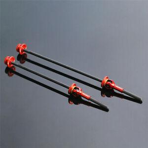 SwishTi Road Mountain E-Bike Bicycle Titanium-axle Skewers w/Carbon levers Red