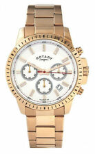 Men's Rotary Gold Plated Strap Polished Wristwatches