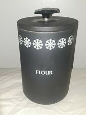 """Vintage lightly used Miracle Maid 9"""" Flour Cannister (N967)s7"""
