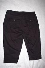 Womens Jeans BLACK DENIM CAPRIS Single Cuff Leg REAR FLAP PKTS Riders by Lee 20W