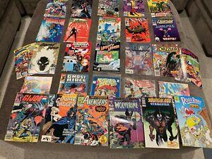 80's/90's COMIC BOOK LOT (28 COMICS) - DC/MARVEL/OTHER - X-MEN/SUPERMAN/AVENGERS