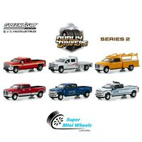 Greenlight Dually Drivers Series 2 Set of 6 Diecast Trucks 1:64 #46020