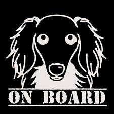 Daschund  on board car sticker decal