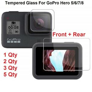 Genuine Tempered Glass Screen Protector  Lens For GoPro Hero 9 8 7 6 5 Black
