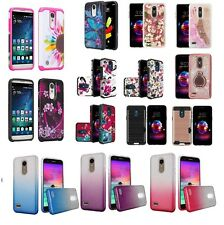 Lg Xpression Plus Hybrid Hard Case Shockproof Armor Cover Cell Phone Case At&T