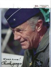 Chuck Yeager Autographed 8x10 Photo JSA USA Air Force Flying Ace Pilot WWII #2