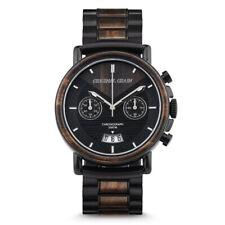 Wrist Watch - ORIGINAL GRAIN - Aviator Chrono Ebony Wood -