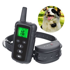 500m Dog Training Collar Waterproof Electric Shock Rehargeable LCD Display