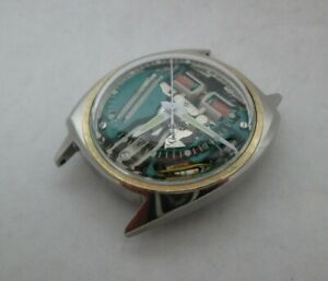 Vintage 1967 Asymmetrical Accutron Stainless Steel Spaceview Ref 2680  Serviced