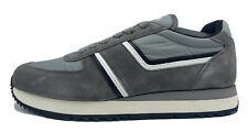 $650 Prada Gray Suede and Nylon Sneakers Size US 13