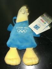 "OLYMPIC GAMES ATHENS 2004 MASCOT PHEVOS PLUSH BACKPACK BAG 8"" OFFICIAL"