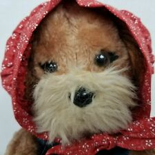 Vintage Dakin Maw Dawg Dog Plush With Dress and Bonnet Stuffed Animal 80s