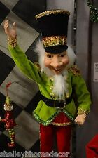 Elf Christmas Ornaments 20 inch posable Set of 2 RAZ Imports sh 3402405 NEW