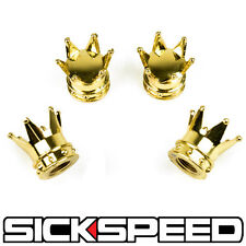 24K GOLD CROWNS VALVE STEM CAPS FOR TURBO/KIT/RIM/WHEELS/TIRES/CAR B