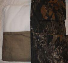 REALTREE Twin Bed Skirt & Pillow Sham Army Green w/ Mossy Oak Breakup Design NIP