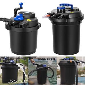 Pressure Biological Pond Filter Koi Fish w/ 13W UV Sterilizer light 1600-2600Gal
