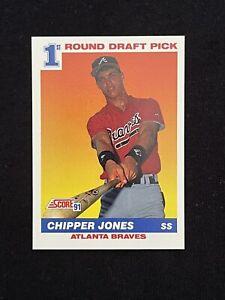 1991 Score Chipper Jones #671 ROOKIE CARD HOF ATLANTA BRAVES **MINT**