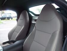 PONTIAC SOLSTICE 2006-2009 GREY S.LEATHER CUSTOM MADE FIT FRONT SEAT COVER