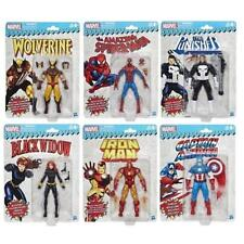 "Marvel Legends 6"" Retro WOLVERINE SPIDER-MAN IRON MAN WAVE 1 SET OF 6 IN STOCK"
