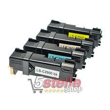 MULTIPACK 4 TONER PER EPSON ACULASER C2900 C2900DN C2900N NERO + COLORI REMAN