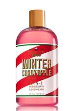 Bath & Body Works Christmas Shop Winter Candy Apple 2in1 Bubble Bath & Wash 16oz