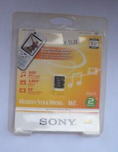 SONY  Memory Stick Micro SONY M2 -2GB_NEW SEALED