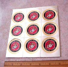 "Lot of 9 UNITED STATES MARINE CORPS USMC Emblem 1 3/4"" Diameter Foil Stickers"