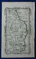 Rare antique road map, BERWICKSHIRE, AYTON, FIRTH OF FORTH, M. Armstrong, 1776